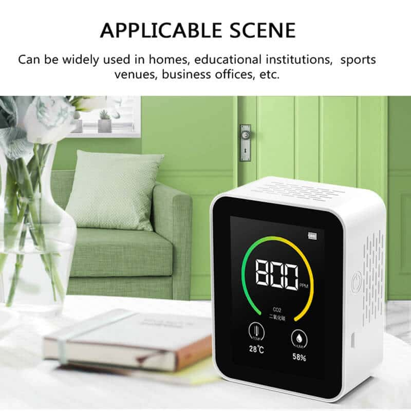 TFT Co2 Alarm Detector Digital Display Intelligent Gas Carbon Dioxide Detector